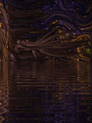 Digital Art - Mirror Lake Abstract Art  by Sheila Mcdonald