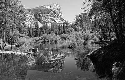 Yosemite Np Photograph - Mirror Lake Black And White by Sierra Vance