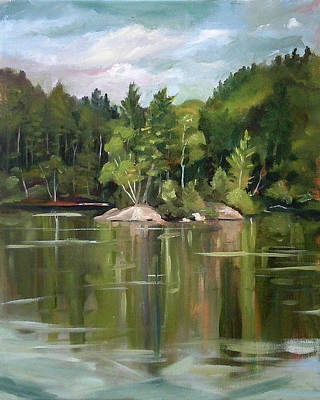 Painting - Mirror Lake En Plein Air by Nancy Griswold