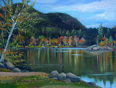 Painting - Mirror Lake In Woodstock New Hampshire by Nancy Griswold