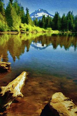 Painting - Mirror Lake - Mount Hood by Jeff Kolker