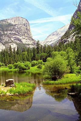 Mirror Lake Yosemite Art Print by Alan Lenk