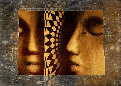 Surrealism Royalty-Free and Rights-Managed Images - Mirror Mirror by Jeff  Gettis
