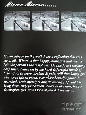 Drawing - Mirror Mirror Poem by Carla Carson