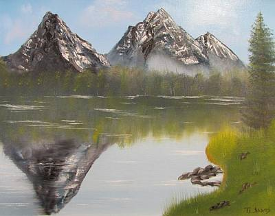 Painting - Mirror Mountain by Thomas Janos