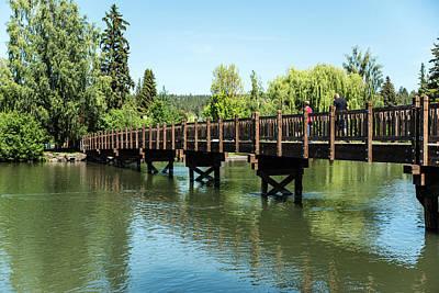 Photograph - Mirror Pond Bridge by Tom Cochran