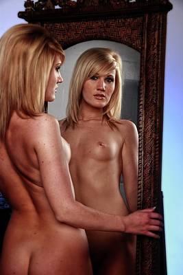 Adult Photograph - Mirror Portrait by Richard Hemingway
