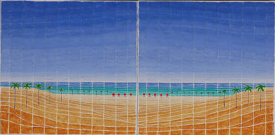 Painting - Mirror Twin Beaches by Jesse Jackson Brown
