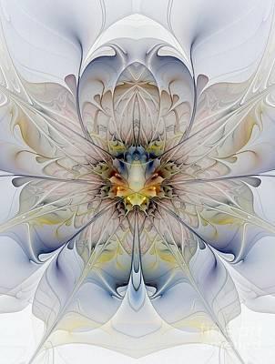 Floral Digital Art Digital Art Digital Art - Mirrored Blossom by Amanda Moore
