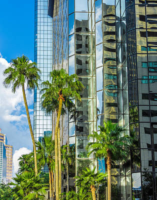 Photograph - Mirrored Building In Tampa Florida by Paula Porterfield-Izzo