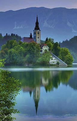 Mirrored Church At Sunrise Art Print