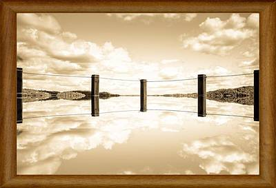 Sweden Digital Art - Mirrored Lake by Tommytechno Sweden