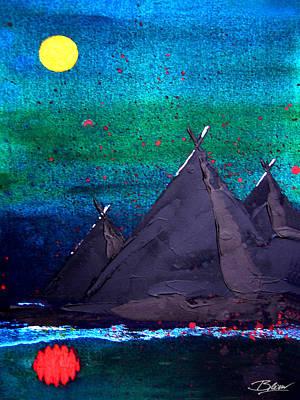 Mirrored Moon Art Print by Bill Brown