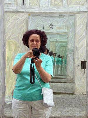 Photograph - Mirrored Self-portrait by Valerie Ornstein
