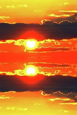 Digital Art - Mirrored Sunrise by Lyle Crump