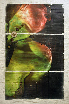 Self-portrait Mixed Media - Mirroring Of The Soul by Lauren Coulson