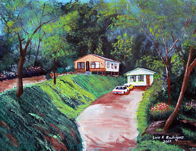 Painting - Los Vecinos by Luis F Rodriguez
