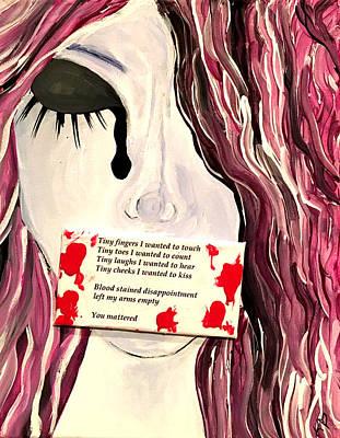 Depression Mixed Media - Miscarriage  by Kate Hart Nardone