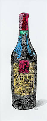 Drawing - Miscellaneous Libation by Wendell Fiock