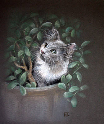 Painting - Mischief In The Money Tree by Rosemary Colyer