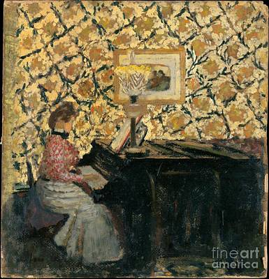 Piano Painting - Misia At The Piano by Celestial Images