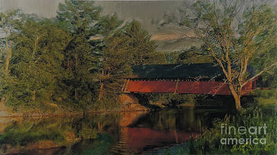 Digital Art - Misisquoi Bridge N. Troy Vt. by John Selmer Sr