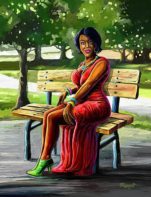 Painting - Mismatched And Happy by Anthony Mwangi