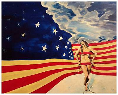 Painting - Miss America? by Darren Mulvenna