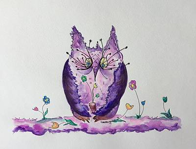 Painting - Miss. Amethyst by Carrie Godwin