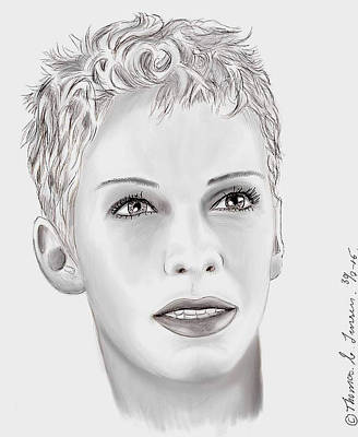 Digital Art - Miss Annie Lennox  by ThomasE Jensen