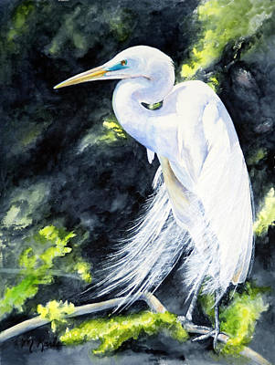Painting - Miss April - Great Egret by Marsha Karle