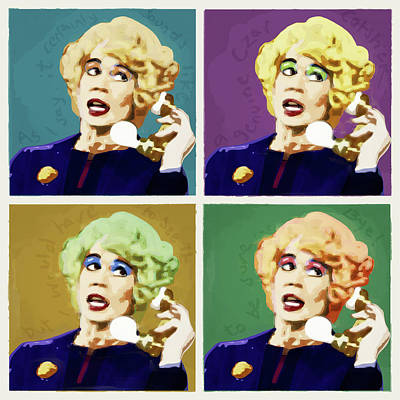 Antiques Digital Art - Miss Babs, Acorn Antiques by Big Fat Arts