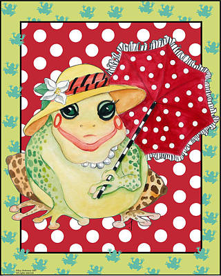 Miss Belle Frog Art Print by Kay Robinson