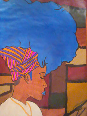 Natural Hair Painting - Miss Blucy by King Takeem