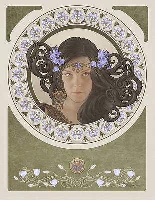 Miss Bluebell Print by Cassiopeia Art