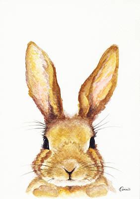 Rabbit Art Painting - Miss Bunny by Kathleen Wong