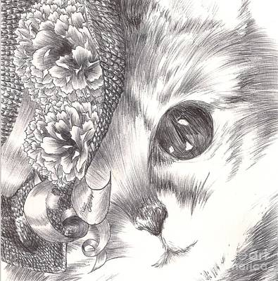 Drawing - Miss Cat by Alice Chen