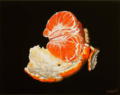Tangerine Painting - Miss Clementine by Lissa Banks