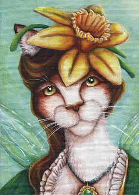 Painting - Miss Daffodil by Tara Fly