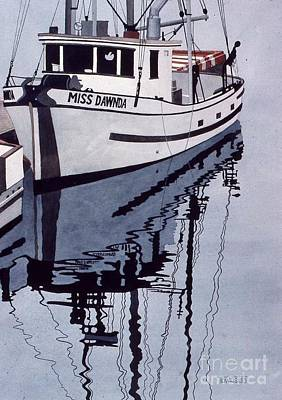 Painting - Miss Dawnda Docked by Frank Townsley