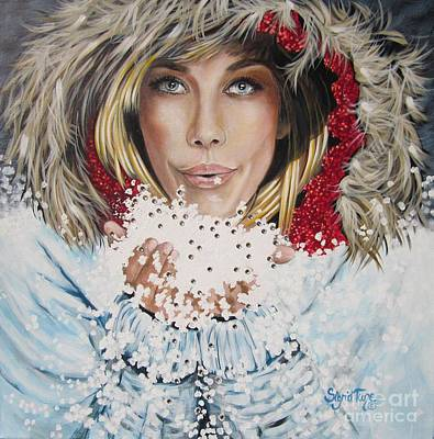 Painting - Remarkable Russian Girl.            From The Attitude Girls  by Sigrid Tune