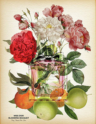 Miss Dior Blooming Bouquet Notes 2 - By Diana Van Art Print