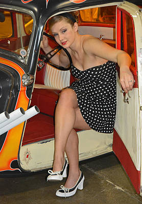 Photograph - Miss F M Auto Show 2016  by Mike Martin