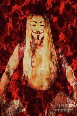 Halloween Digital Art - Miss Fawkes By Mary Bassett by Mary Bassett