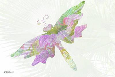 Dragon Fly Digital Art - Miss Flutterby by Pamela Williams