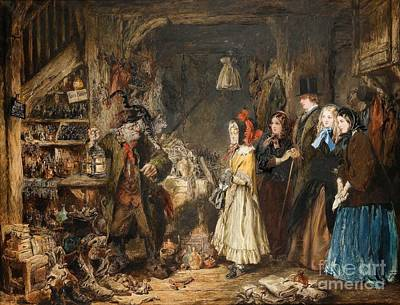Bleak House Painting - Miss Flyte Introduces The Wards In Jarndyce To Krook by MotionAge Designs