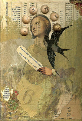 Swallow Mixed Media - Miss Fortune by Dick Allowatt