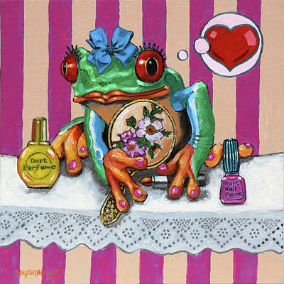 Painting - Miss Froggy Is In Love by John Lautermilch