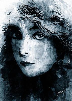 Starlet Digital Art - Miss Gish 2 by Gary Bodnar