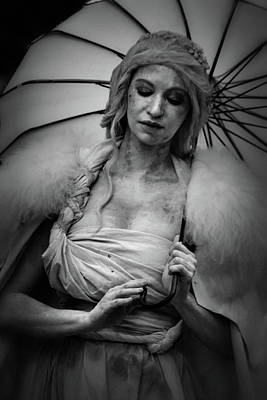 Photograph - Miss Havisham In Black And White by Nadalyn Larsen